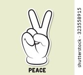 peace symbol. peace hand... | Shutterstock .eps vector #323558915