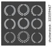 vintage laurel sets   Shutterstock .eps vector #323559467