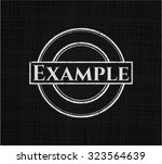 example chalk emblem   Shutterstock .eps vector #323564639