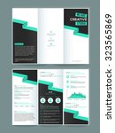 creative two page business... | Shutterstock .eps vector #323565869