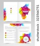 glossy business brochure ...   Shutterstock .eps vector #323566751