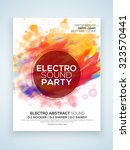 electro night party celebration ... | Shutterstock .eps vector #323570441