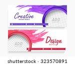 creative website header or... | Shutterstock .eps vector #323570891