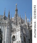 View of gothic dome of Milan, Italy - stock photo