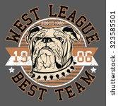 bulldog football team  varsity... | Shutterstock .eps vector #323585501