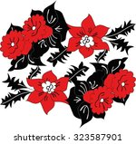 hungarian folk art | Shutterstock .eps vector #323587901