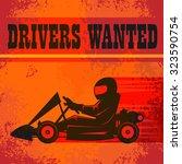 karting go cart race poster ... | Shutterstock .eps vector #323590754