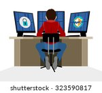 vector illustration of a... | Shutterstock .eps vector #323590817
