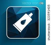 glue icon vector button logo... | Shutterstock .eps vector #323591405