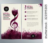 idea concept wine and music.... | Shutterstock .eps vector #323595305