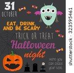 halloween invitation card | Shutterstock .eps vector #323595461