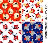 set of four seamless geometric...   Shutterstock .eps vector #323597114