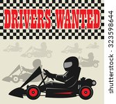 karting go cart race poster ... | Shutterstock .eps vector #323598644