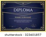 diploma or certificate premium...   Shutterstock .eps vector #323601857