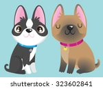 a black and white boston... | Shutterstock .eps vector #323602841