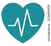 heart ekg vector icon. style is ... | Shutterstock .eps vector #323609429