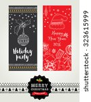 christmas party invitation.... | Shutterstock .eps vector #323615999