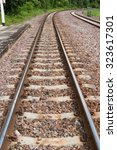 railway tracks over white... | Shutterstock . vector #323617301