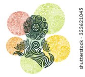 floral nature pattern design... | Shutterstock .eps vector #323621045