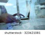 medicine doctor hand working... | Shutterstock . vector #323621081