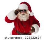 cool santa claus portrait...   Shutterstock . vector #323622614