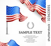 american flag   banners with...   Shutterstock .eps vector #323623031