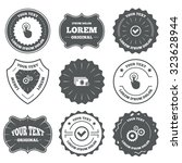 vintage emblems  labels. atm... | Shutterstock .eps vector #323628944