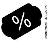 discount label vector icon.... | Shutterstock .eps vector #323629697