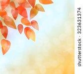 fall leaves background | Shutterstock .eps vector #323631374