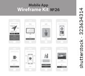 mobile wireframe app ui kit 26. ...