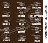 menu list the composition of... | Shutterstock .eps vector #323636201
