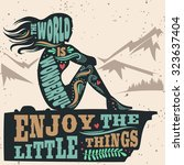 creative vintage motivation and ...   Shutterstock .eps vector #323637404