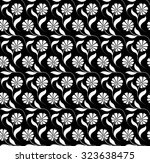seamless pattern with floral... | Shutterstock .eps vector #323638475