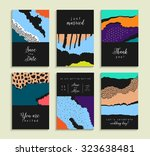 collection of artistic cards... | Shutterstock .eps vector #323638481