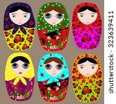 russian folk toy  the... | Shutterstock .eps vector #323639411