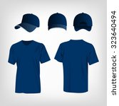 sportswear blue t shirt and... | Shutterstock .eps vector #323640494