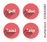 document icons. file extensions ... | Shutterstock .eps vector #323642084