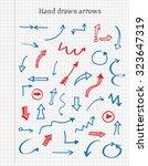 hand drawn arrows.doodle arrows ...   Shutterstock .eps vector #323647319