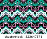 geometric ethnic pattern... | Shutterstock .eps vector #323647871