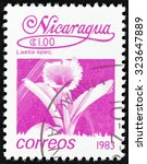 "Small photo of NICARAGUA - CIRCA 1983: A stamp printed in Nicaragua from the ""Flowers"" issue shows Laelia spec., circa 1983."