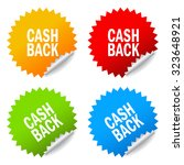 cash back stickers set isolated ... | Shutterstock .eps vector #323648921