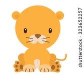 lioness vector illustration | Shutterstock .eps vector #323652257