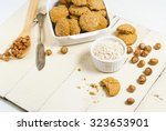 oatmeal cookie chips with... | Shutterstock . vector #323653901