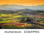 Tuscany Landscape At Sunrise....