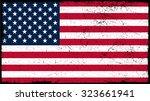 grunge usa flag.american flag... | Shutterstock .eps vector #323661941