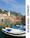 little harbor with boat in...   Shutterstock . vector #3236629
