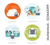 cloud computing illustration... | Shutterstock .eps vector #323663399