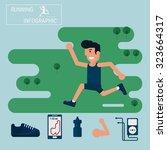 jogging and running... | Shutterstock .eps vector #323664317