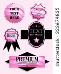 badges ribbons and labels set.... | Shutterstock .eps vector #323674835