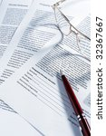 close up of contract document... | Shutterstock . vector #32367667
